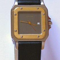 Cartier Santos Herrenuhr Automatik in Stahl / Gold