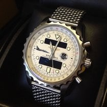 Breitling Chronospace Steel 48mm Silver Arabic numerals