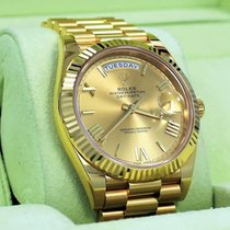 Rolex President 40mm Day-date 228238 18k Yellow Gold Champagne...