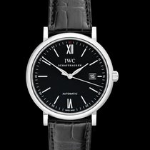 IWC Portofino Automatic Black Steel/Leather 40mm - IW356502