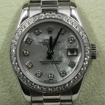 Rolex Platinum Automatic Mother of pearl 26mm pre-owned Lady-Datejust