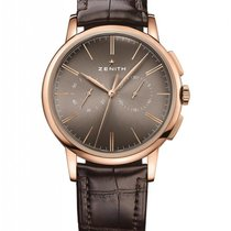 Zenith Red gold Automatic Silver new Elite Chronograph Classic