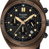 Pulsar Chronograph 42mm Quartz new Brown