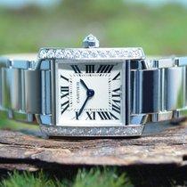 Cartier Tank Française new Quartz Watch with original box and original papers 2403 / Code: 5726