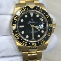 Rolex Yellow gold Automatic No numerals 40mm pre-owned GMT-Master II