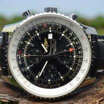 Breitling Navitimer World Stal 46mm Czarny