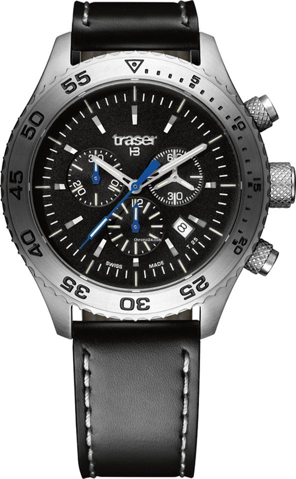 Aurora With 106832 Watch Strap Chronograph Leather Traser T5 D29IYeWHE