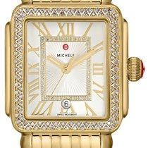 Michele Yellow gold Quartz Roman numerals 29mm new Deco