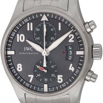 IWC Steel Automatic Grey Arabic numerals 43mm pre-owned Pilot Spitfire Chronograph