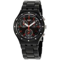 Swatch Aluminium Quarz Schwarz 40mm neu