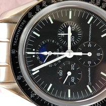 Omega Speedmaster Professional Moonwatch Moonphase Acero 42mm Negro Sin cifras