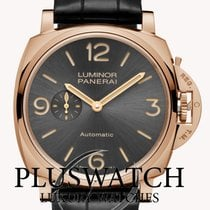 Panerai Luminor Due Oro rojo 45mm Gris Arábigos