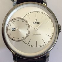 Rado automatic watch high-tech ceramic with leather strap and...