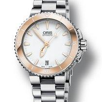 Oris Aquis Date Steel 36mm White No numerals