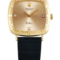 Rolex | A Lady's Yellow Gold Cushion-form Wristwatch With...