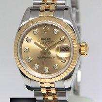 Rolex Datejust 18k Yellow Gold/Steel Champagne Diamond Dial...