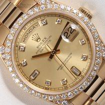 Rolex President Day Date 18k-Champagne Diamond Dial-Diamond...