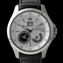 Girard Perregaux Steel Automatic Silver 45mm pre-owned Traveller