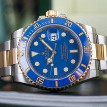 Rolex SUBMARINER BLUE CERAMIC 116613LB/BOX&PAPERS