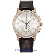 Zenith Rose gold Automatic Silver 42mm pre-owned El Primero Winsor Annual Calendar