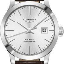 Longines Record Steel 30mm Silver