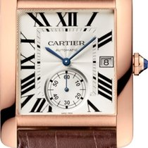Cartier Rose gold Automatic Silver new Tank MC