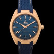 Omega Rose gold Automatic Blue 41mm new Seamaster Aqua Terra