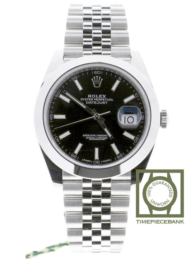 Rolex Datejust 41 Smooth Bezel Black Dial Jubilee 126300