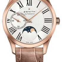 Zenith Elite Ultra Thin Or rose 33mm Argent Romains