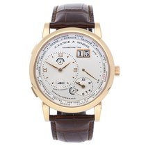 A. Lange & Söhne Rose gold Manual winding Silver Roman numerals 41.9mm pre-owned Lange 1