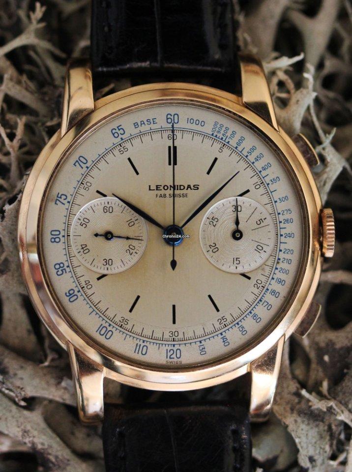 Leonidas Jumbo chronograph with 41 mm diameter