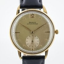 Doxa pre-owned Manual winding 33.1mm Silver Plexiglass