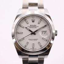 Rolex Datejust Steel 41mm White No numerals