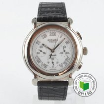 Hermès White gold Automatic Roman numerals 39.5mm pre-owned