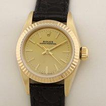 Rolex 67198 Saphirglas Saphire Gelbgold 1988 26mm gebraucht