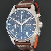 IWC Pilot Chronograph Acero 43mm Marrón