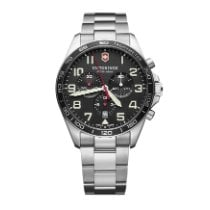 Victorinox Swiss Army 241855 Fieldforce Black Dial Stainless Steel Chronograph 2020 new