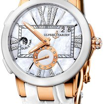 Ulysse Nardin Executive Dual Time Lady Rose gold 50mm Mother of pearl United States of America, New York, Brooklyn