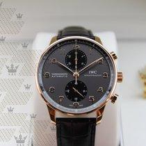 萬國 (IWC) IW371482 Portugieser Grey Dial Chronograph Rose Gold