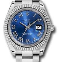 Rolex Datejust II  Blue Roman Dial 116334 blro