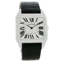 Cartier Santos Dumont Mens 18k White Gold Manual Watch W2007051