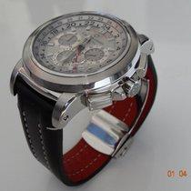 Carl F. Bucherer Chronograph 46,6mm Automatik gebraucht Patravi Silber