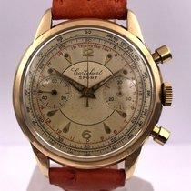 Cortébert vintage JUMBO chrono gold 18ct cal 429