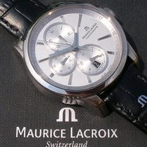Maurice Lacroix Pontos Chronographe gebraucht 43mm Stahl