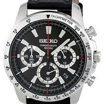 Seiko SSB033 Seiko Sport Cronografo Quarzo Pelle Nero 40,5mm new