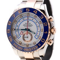 Rolex Yacht-Master II Oro/Acciaio 44mm Bianco Senza numeri