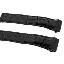 Omega dark brown leather strap 21/18
