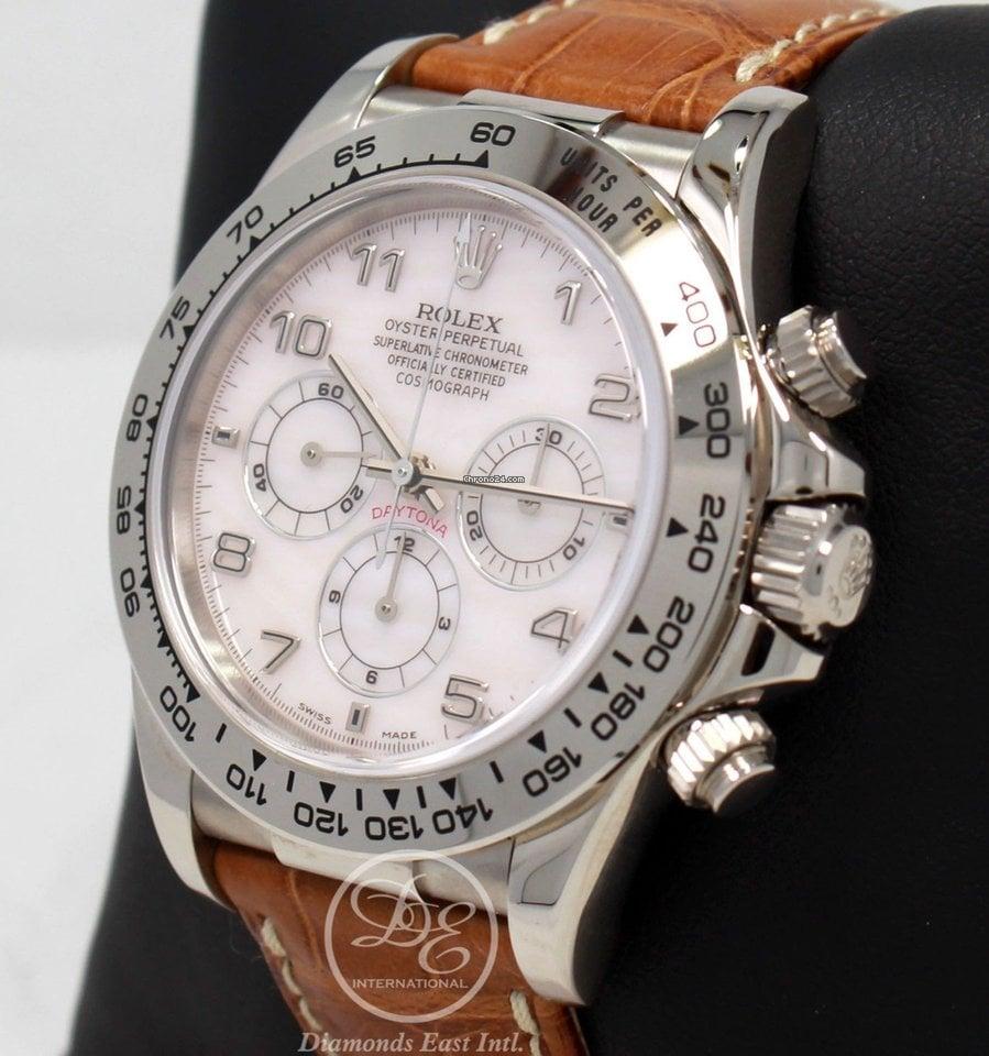 Rolex Daytona Zeinth 16519 18k White Gold Cosmograph Mop Dial... za ... 45a5b48b97