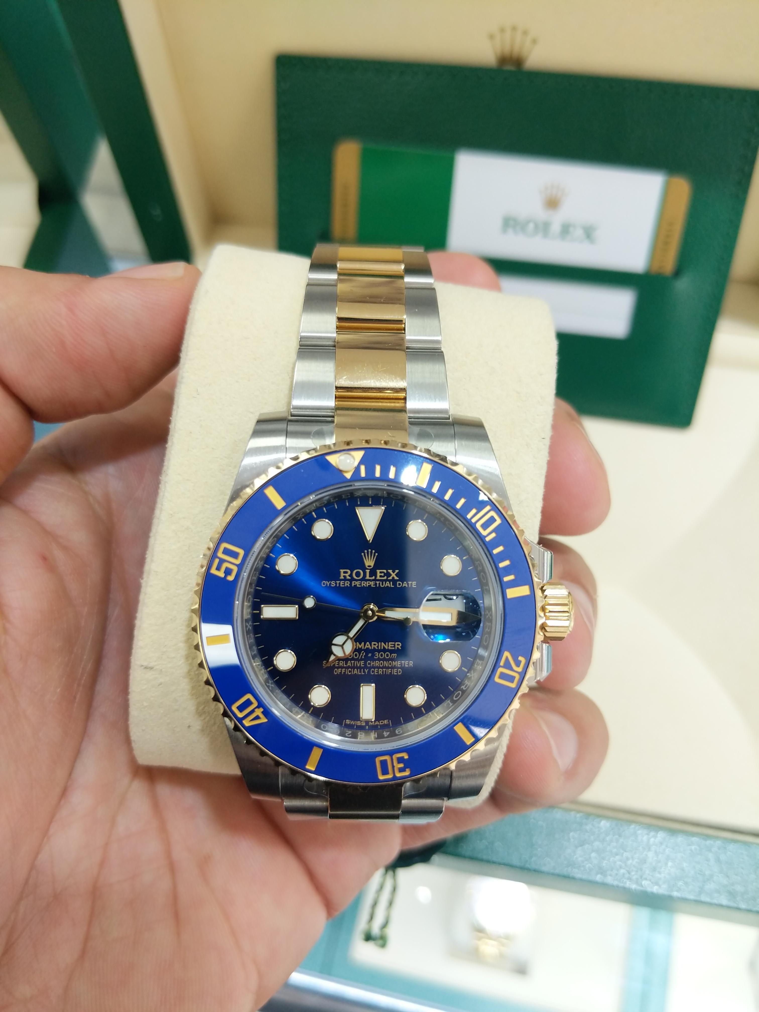 dbe4924aa027 Rolex Submariner Date 2 Tone Sealed W/ Paper&Box en venta por MX ...
