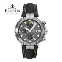 Michel Herbelin Chronograph 43.5mm Automatic 2013 new Newport Yacht Club Grey